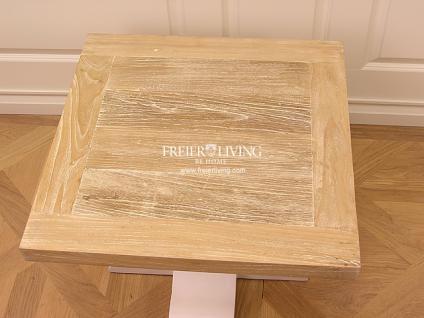 Massivholz Beistelltisch Tisch Landhausstil Couchtisch Shabby Chic - Vorschau 3
