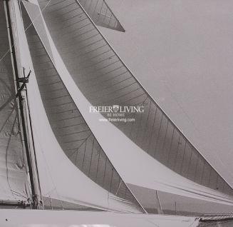 Spiegelrahmen Wandbild Segelyacht Segelschiff Maritim Kunstdruck - Vorschau 2
