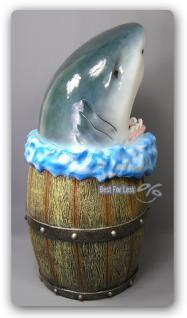 Haifisch Hai Kopf Mülleimer Werbefigur Figur Deko - Vorschau 2