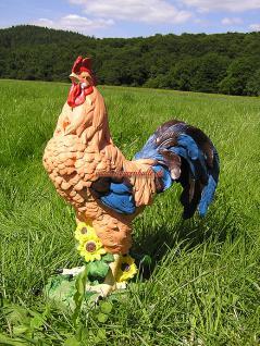 Hahn Figur als Bauernhof Deko