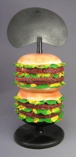 Hamburger Figur Statue Werbeaufsteller Imbiss Restaurant