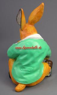 Osterhase Hase mit Ei Figur Dekoration Ostern Statue Deko - Vorschau 4