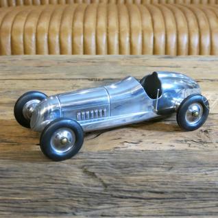 Auto Oldtimer Aluminium Nostalgie Car Figur Deko Retro Indianapolis - Vorschau 2