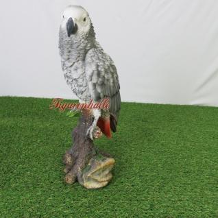 Graupapagei Papagei Vogel lebensecht groß Aufstellfigur Figur Statue Skulptur Deko