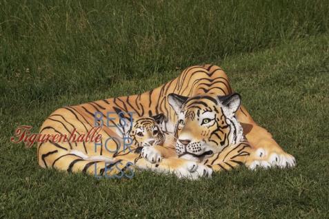 Tiger liegender Position Dekofigur Lebensgroß Tiga Aufstellfigur - Vorschau 2