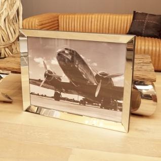 Wandbild Spiegelrahmen Flugzeug American Aluminium