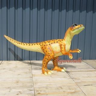 Velociraptor Dinosaurier Figur Dino statue Deko Skulptur Uhrzeit Tier große Deko
