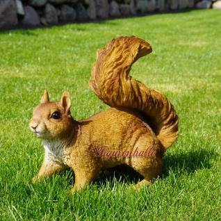 Eichhörnchen Figur Statue Skulptur Deko Wald - Vorschau 1