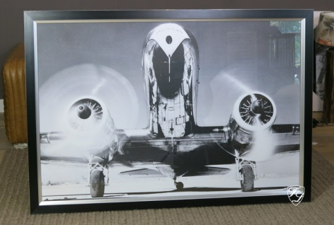 Wandbild Flugzeug Propeller Boeing Kunstdruck Bild Douglas DC-3 Deko 150 cm neu