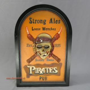 Deko Schild Pirat Totenkopf Skelett Piraten Pub
