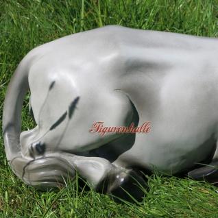 Grauer Esel Maultier Dekofigur Manuel liegend Gartenfigur Figur Skulptur Berge Statue - Vorschau 3