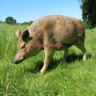 Wildschwein als Dekofigur Aufstellfigur Figu Wald Wiese Garten Deko
