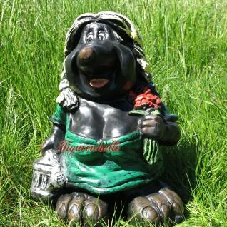 Maulwurf Frau mit Giskanne Gartenfigur Dekofigur Figur Garten Deko
