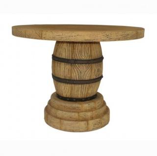Weinfass als Tisch Dekoration Esstisch