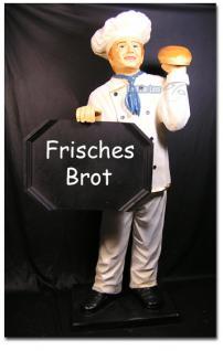 Bäcker Werbefigur Werbeaufsteller Figur Backstube