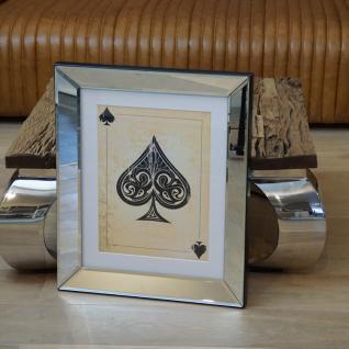 Wandbild Spiegelrahmen Pik Kartenspiel Spielkarte Poker Fan Artikel
