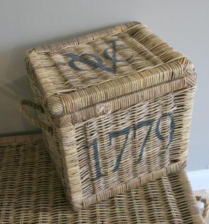 Rattankorb Wäschekorb Allzweckkorb Korb 1779 natur Landhausstil