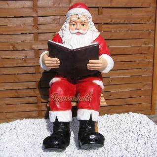 Weihnachtsmann sitzend Dekofigur Weihnachtsfigur