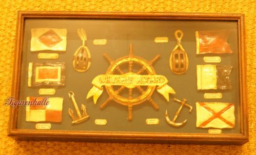 Vitrine Modell Seefahrt Maritim Deko Dekoration Steuerrad - Vorschau 2