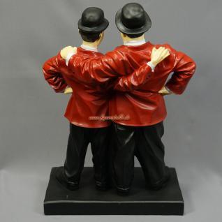 Dick und Doof Figur Arm in Arm rote Jacke Stan und Oliver - Vorschau 2