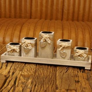 Teelichthalter Teelicht Tablett Deko Dekoration