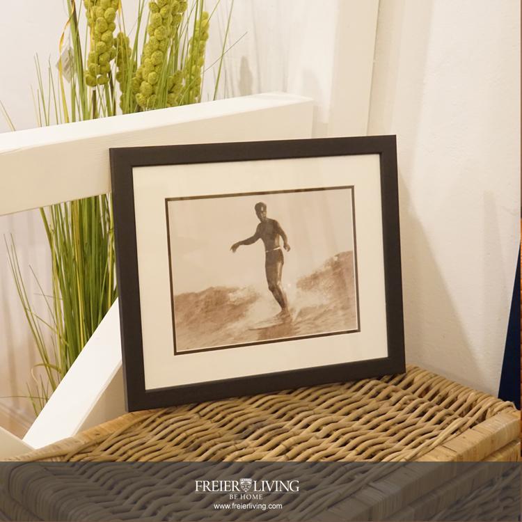 Sufer Tom Blake Wandbild gerahmt Foto schwarz weiß - Kaufen bei ...