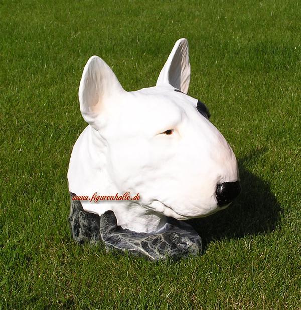 Pitbull Tierfigur Hundefigur Figur Kopf Kopf Kopf Weiß f99e4f