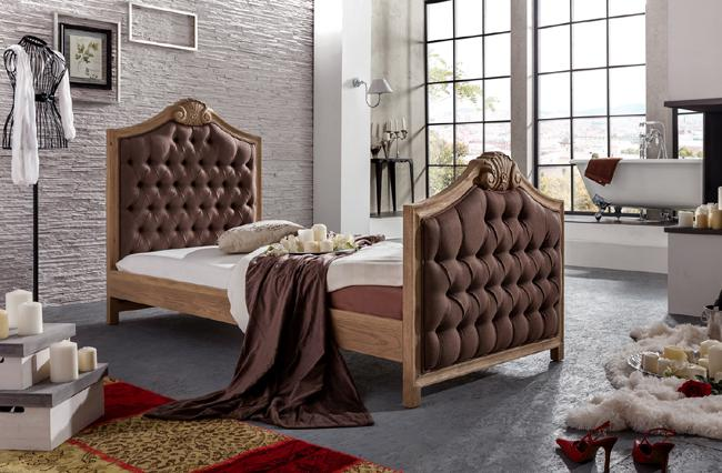 bett im chesterfield eiche massiv art deco stil kaufen bei helga freier. Black Bedroom Furniture Sets. Home Design Ideas