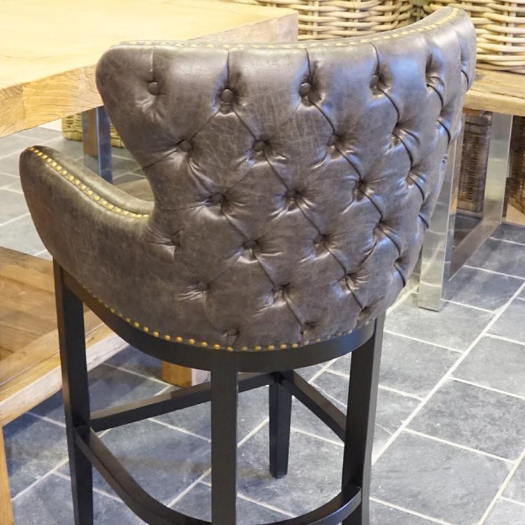 Barhocker sitzhocker barstuhl leder vintage used look for Barhocker mit ledersitz