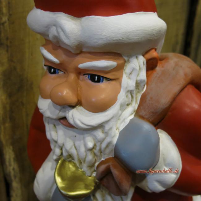 weihnachtsmann santa claus figur mit sack und glocke. Black Bedroom Furniture Sets. Home Design Ideas