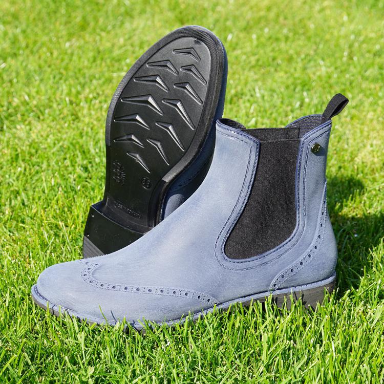 begehrte Auswahl an große Auswahl Herbst Schuhe Damen Stiefeletten Chelsea Gummischuhe Gummistiefel blau