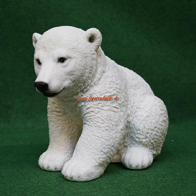 Anktarktis Eisbär sitzend Figur Figur Figur Statue Skulptur Deko 2e95b2