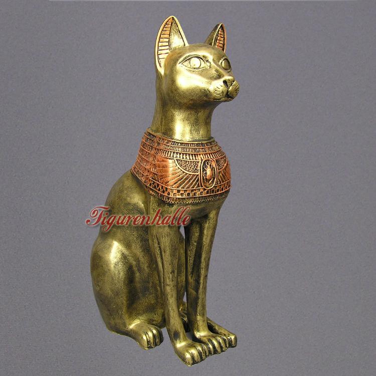 ÄGYPTEN ÄGYPTISCHE KATZE BASTET DEKOFIGUR STATUE GÖTTIN STATUE SKULPTUR FIGUR