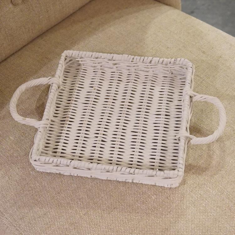 Rattan Tablett Natur Vintage Rattantablett Esszimmer Deko Landhaus Shabby  Chic W 1 ...