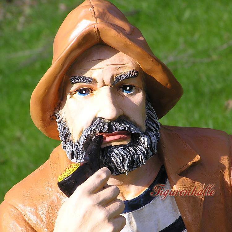 KAPITÄN MATROSE SEEMANN MARITIME DEKORATION Garten Figur Deko maritim Skulptur