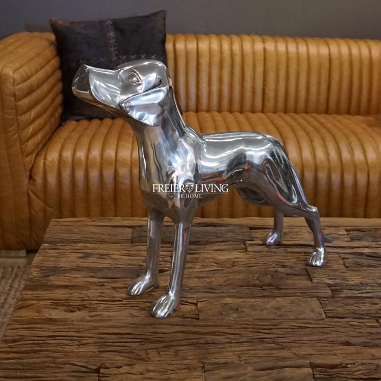 Skulptur Windhund Hund Greyhound Jagdhund Figur Whippet Haus Antik-Stil