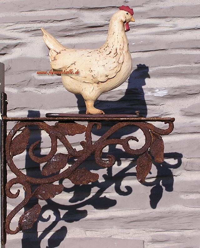 Hünchen Huhn als Art Deco Figur und Statue im Hütten Stil