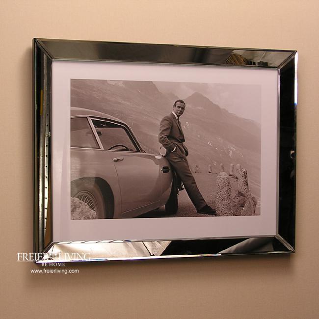 james bond 007 schwarz wei foto kunstdruck mit rahmen. Black Bedroom Furniture Sets. Home Design Ideas