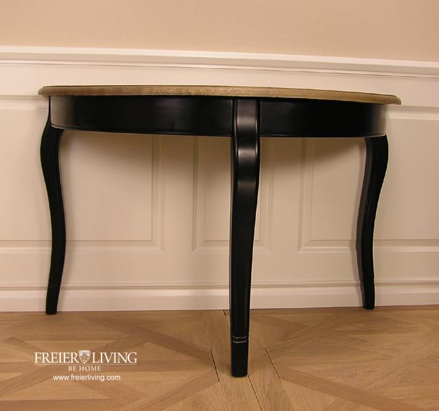 Halbrunder Wandtisch.Halbrunder Wandtisch Beistelltisch Schwarz Dackelfüsse Biedermeier Nostalgie Stil