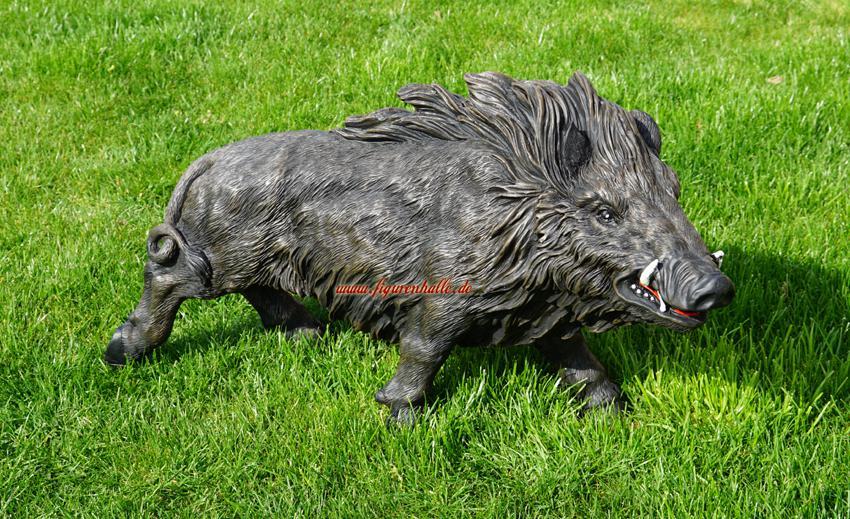 Wildschwein Figur Statue Skulptur Garten Gartenfigur Wald Natur Groß