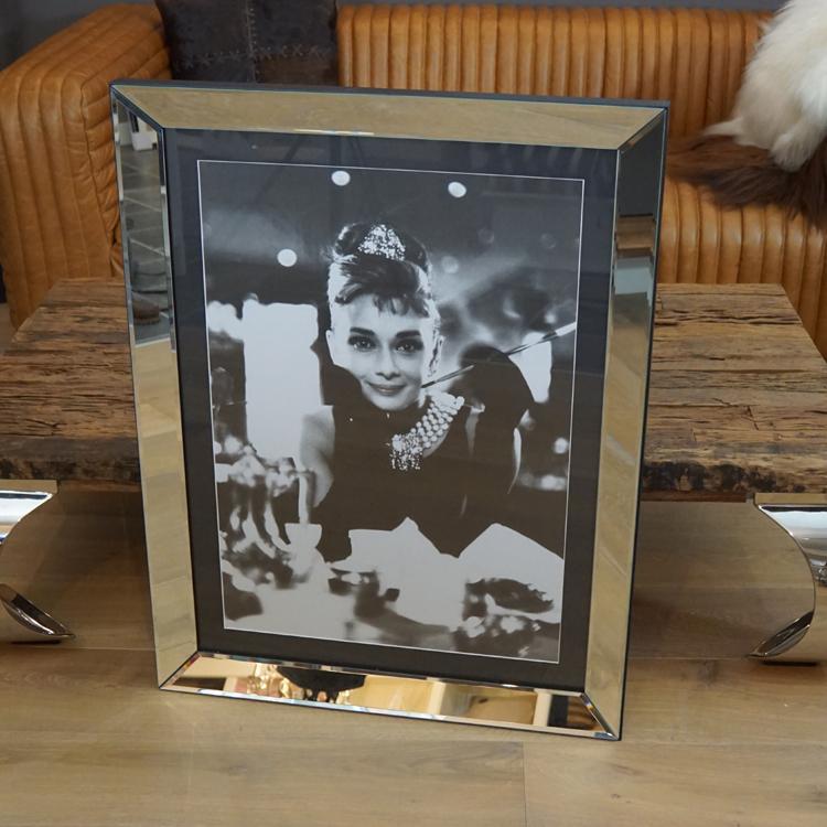 Wandbild Spiegelrahmen Frühstück bei Tiffany Wandbild Audrey Hepburn ...