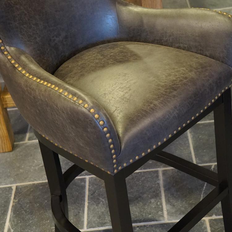 Barhocker sitzhocker barstuhl leder vintage used look for Barhocker leder
