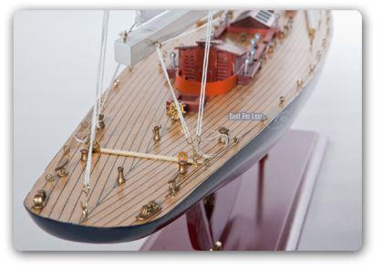 Endeavour Segelyacht Modell Standmodel Modellschiff Holz - Vorschau 3