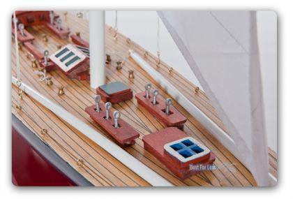 Endeavour Segelyacht Modell Standmodel Modellschiff Holz - Vorschau 5
