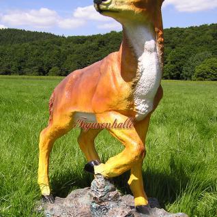 Hirsch Dekofigur Rot-Wild Statue Figur Rehbock - Vorschau 5