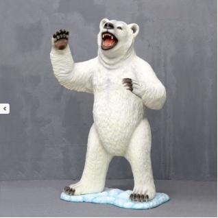 Eisbär Stehend als Figur Figur Statue lebensgroß Werbefigur