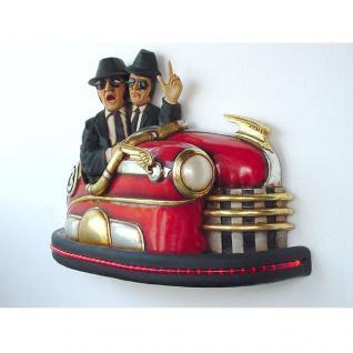 Blues Brothers im Autoscooter als Figur und 50s Dekoration und Deko