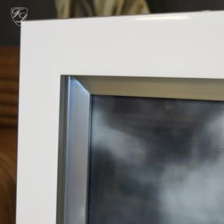 Wandbild Fotodruck Leopard Schwarz weiß Rahmen Holz mit Alu - Vorschau 3