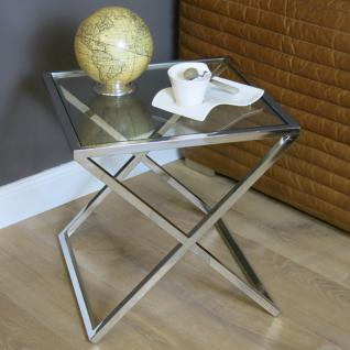 Lampentisch Beistelltisch Metall Glasplatte Glastisch Home Interiors