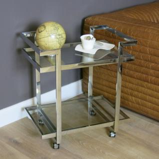 Teewagen Lampentisch Beistelltisch Metall Glasplatte Glastisch Home Interiors